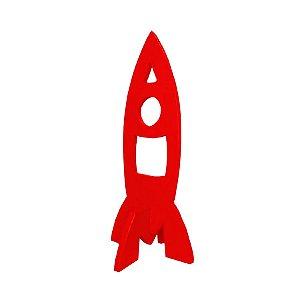 Decoração Foguete de Madeira - Vermelho - 01 Unidade Rizzo