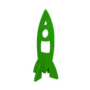 Decoração Foguete de Madeira - Verde - 01 Unidade Rizzo