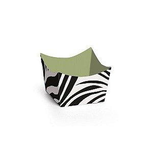 Forminha para Doces Cachepot Festa Safari - Zebra - 24 unidades - Cromus - Rizzo