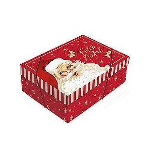 Caixa para Presente Retangular com Tampa - Natalino - 01 unidade - Cromus Natal - Rizzo