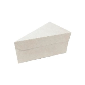 Caixa Fatia de Bolo n°2 - 9,5x15,5x6cm  Branco - 10 unidades - Rizzo