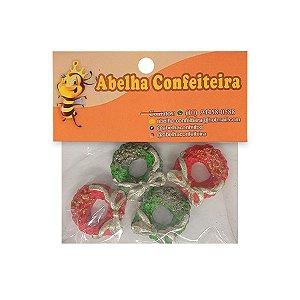 Mini Confeito Guirlanda Natal Vermelho & Verde - 4 UN - Abelha Confeiteira - Rizzo