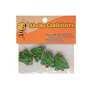 Mini Confeito Árvore de Natal Decorada - 4 UN - Abelha Confeiteira - Rizzo