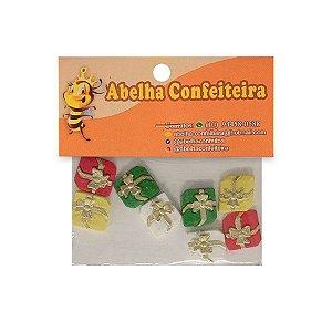 Mini Confeito Presentes - 8 UN - Abelha Confeiteira - Rizzo