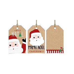 Tag Decorativa com Furo - Noelito - 5x8cm - 12 unidades - Rizzo