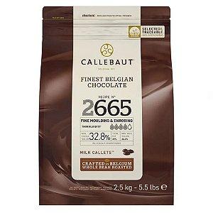 Chocolate Belga Callebaut - Gotas ao Leite - N° 2665 - 2,5 kg - Rizzo Confeitaria