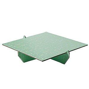 Bandeja Desmontável Quadrada - Verde Menta Magia - 01 unidade - Mesa Festa - Rizzo Confeitaria