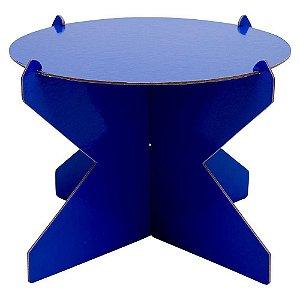 Boleira Desmontável Redonda - Azul Arara - 01 unidade - Mesa Festa - Rizzo Confeitaria