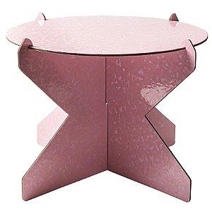 Boleira Desmontável Redonda - Rosa Boneca Magia - 01 unidade - Mesa Festa - Rizzo Confeitaria