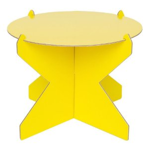 Boleira Desmontável Redonda - Amarelo Siciliano - 01 unidade - Mesa Festa - Rizzo Confeitaria
