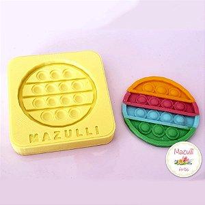 Molde de Silicone 2313 Festa Pop It Fidget Toy Redondo - 01 Unidade - Mazulli - Rizzo