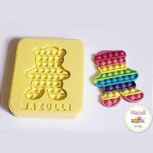 Molde de Silicone 2340 Festa Pop It Fidget Toy Ursinho - 01 Unidade - Mazulli - Rizzo