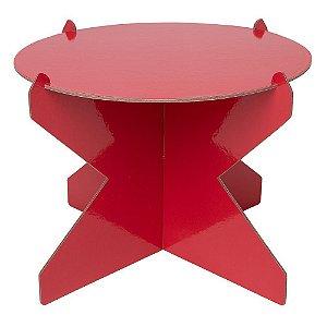 Boleira Desmontável Redonda - Vermelho Maravilha - 01 unidade - Mesa Festa - Rizzo Confeitaria