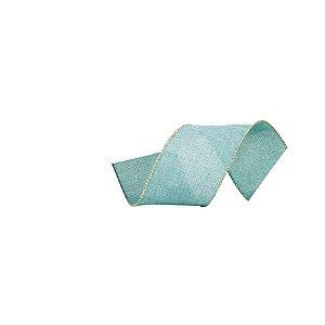 Fita Decorativa Natal Juta - Azul - 3,8x914cm - 1 UN - Cromus - Rizzo