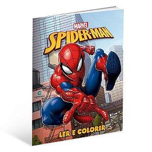 Livro Para Ler e Colorir Homem-Aranha B - 01 Unidade - Culturama - Rizzo