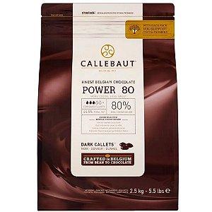 Chocolate Belga Callebaut - Gotas Amargo - Power 80 - 2,5 kg - Rizzo Confeitaria