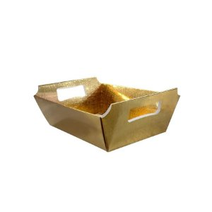 Cesta de Papel P 9,5x14x5cm - Dourado - 10 Unidades - ASSK - Rizzo