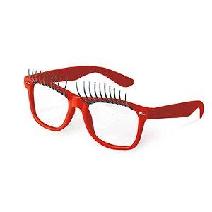 Óculos Preto com Círios Vermelho Festa Carnaval 01 Unidade Cromus Rizzo