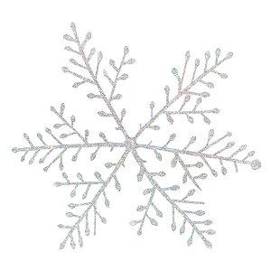 Decoração Enfeite Natalino Bloco De Neve - 22cm - 12 UN - Rizzo
