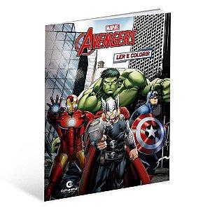 Livro Gigante Para Ler e Colorir Vingadores - 01 Unidade - Culturama - Rizzo