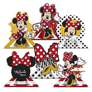 Decoração de Mesa Festa Minnie Mouse 06 Unidades Regina Rizzo