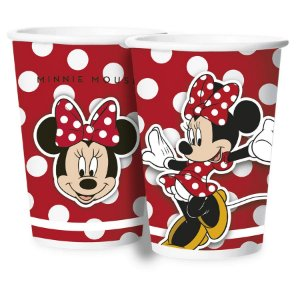 Copo Papel 180ml Festa Minnie Mouse 12 Unidades Regina Rizzo
