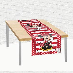 Trilho de Mesa de Tecido 40x200cm Festa Minnie Mouse 01 Unidade Regina Rizzo