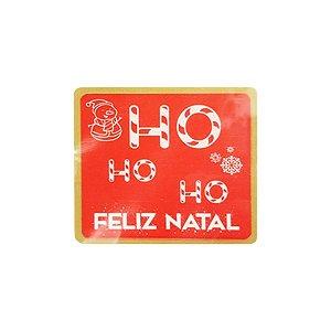 Etiqueta Adesiva HO HO HO - Feliz Natal - com 60 un. Rizzo