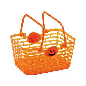 Cesta com Aplique Laranja Halloween Cromus Rizzo