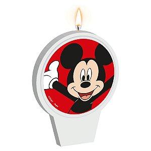 Vela Plana Adesivada Festa Mickey Mouse 01 Unidade Regina Rizzo