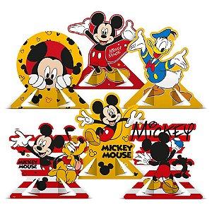 Decoração de Mesa Festa Mickey Mouse 06 Unidades Regina Rizzo