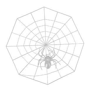 Teia de Aranha Transparente 35X35cm Halloween Cromus Rizzo