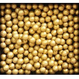 Confeito Pérolas - Dourado - 60g - 1 UN - Morello - Rizzo