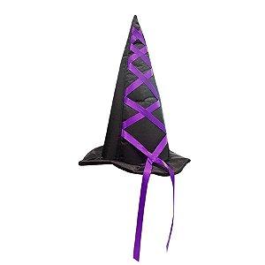 Chapéu de Bruxa Luxo - Roxo - 01 Unidade - Rizzo