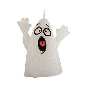 Vela Decorativa Halloween - Fantasma Assustado - 1 UN - Rizzo