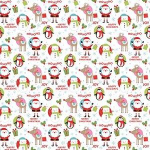 Papel Manteiga Alegria de Natal 50 Unidades Decora Doces Rizzo