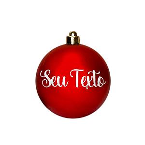 Bola de Natal Personalizada - Vermelho Fosco - 01 Unidade - Cromus - Rizzo Confeitaria