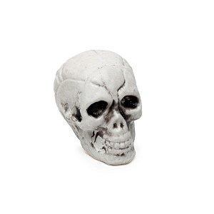 Enfeite Decorativo Halloween - Crânio de Esqueleto - 12 unidades - Cromus - Rizzo