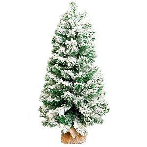 Árvore Pinheiro decorativo Nevado - 90cm - 01 unidade - Natal Tok da Casa - Rizzo