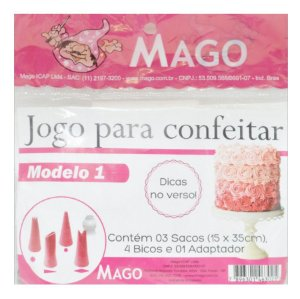 Kit de Confeitar Mod. 1 com 8 itens Mago Rizzo Confeitaria