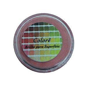Pó para decoração, Brilho para superficie Colorê Carmim 2g Lully Rizzo Confeitaria