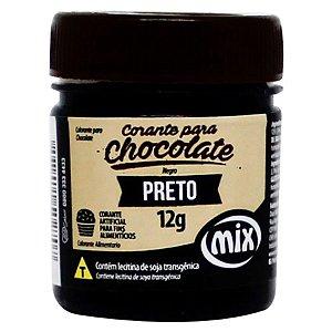 Corante em Pasta para Chocolate Preto 12g Mix