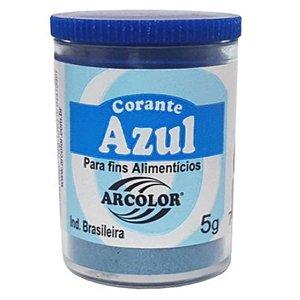 Corante em pó Azul 5g Arcolor Rizzo Confeitaria