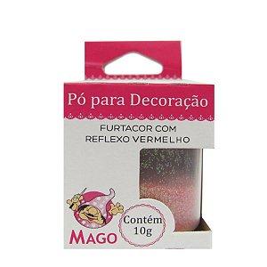 Pó para decoração furtacor com reflexo vermelho 10g Mago Rizzo Confeitaria