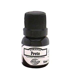 Corante Liquido preto 10ml Arcolor Rizzo Confeitaria