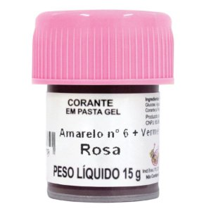 Corante em pasta gel rosa 15g Mago Rizzo Confeitaria