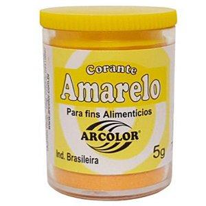 Corante em pó Amarelo 5g Arcolor Rizzo Confeitaria