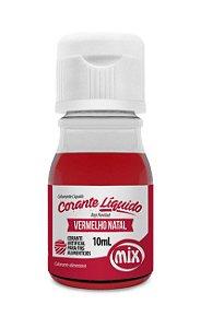 Corante liquido vermelho natal 10ml Mix Rizzo Confeitaria