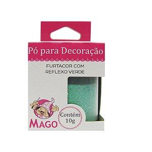Pó para decoração furtacor com reflexo verde 10g Mago Rizzo Confeitaria