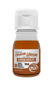 Corante liquido marrom chocolate 10ml Mix Rizzo Confeitaria